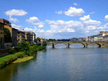 Italian River and Bridge