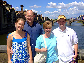Pridgen family in Italy
